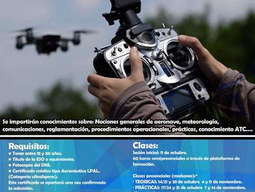 El SEJUVE pone en marcha un nuevo curso bonificado para convertirse en piloto de drones