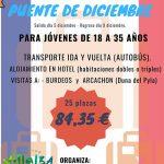 El Centro de Juventud de Collado Villalba organiza un viaje a Bègles para el puente de la Constitución