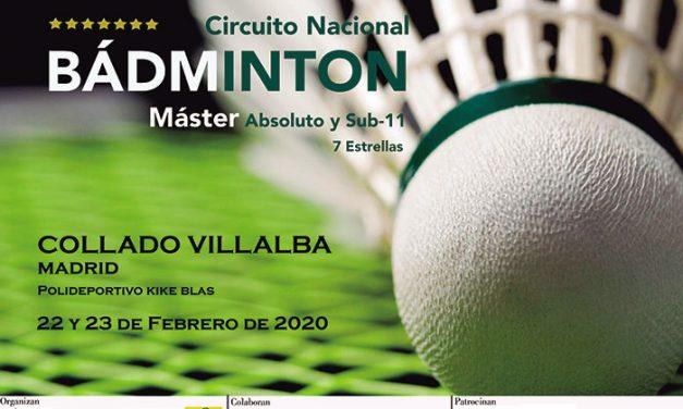 Collado Villalba acoge el 22 y 23 de febrero el Máster Nacional de Bádminton Absoluto y Sub-11