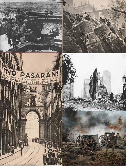 La Guerra Civil: evolución política en las dos zonas y sus consecuencias
