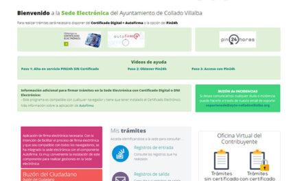 Los vecinos ya pueden realizar la gestión de sus tasas e impuestos online en la nueva Oficina Virtual del Contribuyente de Collado Villalba