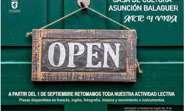La Casa de Cultura Asunción Balaguer de Alpedrete reinicia sus clases el 1 de septiembre