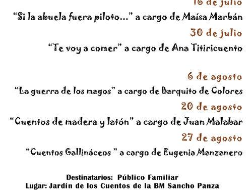 'El Jardín de los Cuentos', de la Biblioteca Sancho Panza, presenta programación para este verano