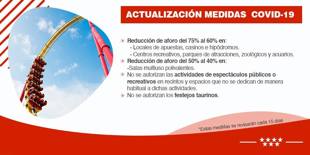 La Comunidad de Madrid actualiza y refuerza las medidas contra el coronavirus para evitar su propagación