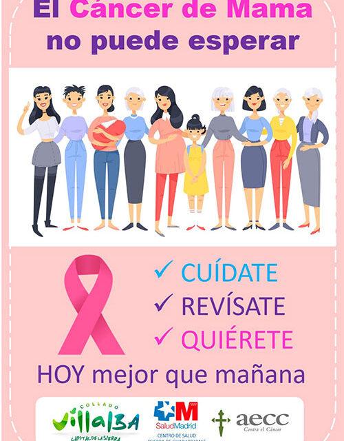 """""""El cáncer de mama no puede esperar, cuídate, revísate, quiérete HOY, mejor que mañana"""": nueva campaña municipal contra esta enfermedad en Collado Villalba"""
