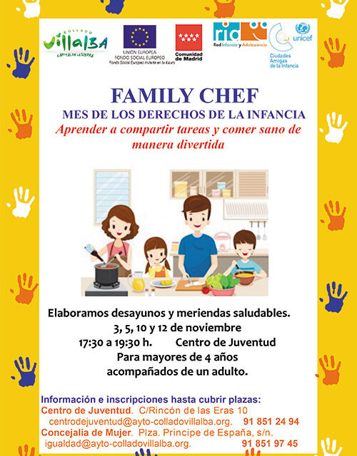 'Family Chef', un taller infantil para aprender a compartir tareas y comer sano de forma divertida