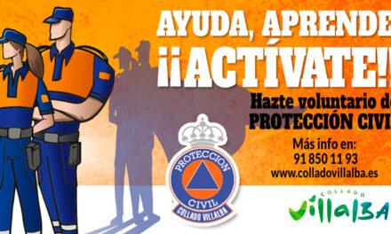 El Ayuntamiento de Collado Villalba invita a los vecinos a unirse a Protección Civil
