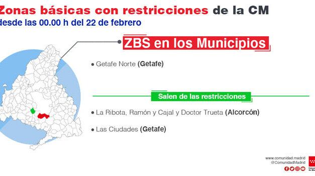 La Comunidad de Madrid levanta restricciones en 31 zonas básicas de salud y siete localidades, e introduce limitaciones de movilidad en dos nuevas áreas