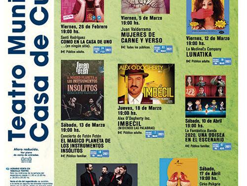 Espectáculos de calidad para los próximos meses en el Teatro de la Casa de Cultura de Collado Villalba
